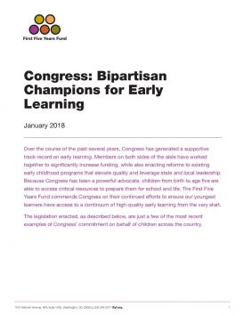 Congress: Bipartisan Champions for Early Learning &#8211&#x3B; 2018